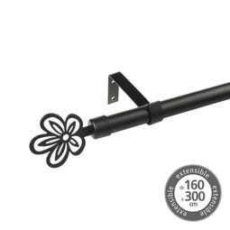 BARRA EXTENSIBLE 160-300 METAL NEGRO