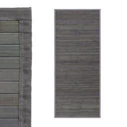 ALFOMBRA GRIS BAMBÚ 75 X 175 CM