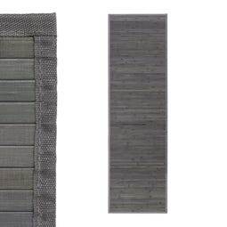 ALFOMBRA GRIS BAMBÚ 60 X 200 CM